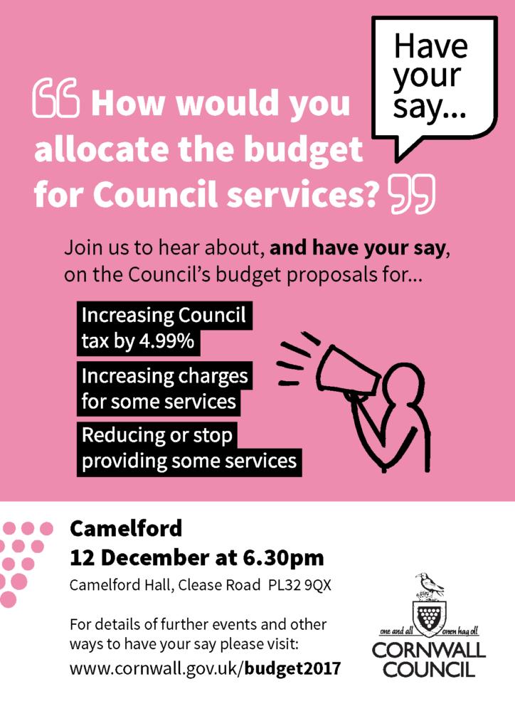 Budget Consultation Camelford